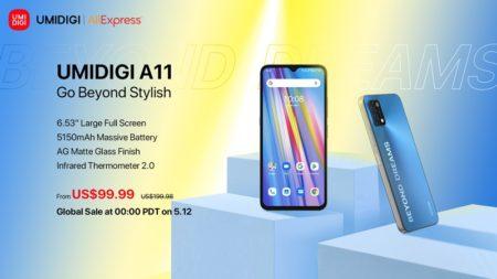 UMIDIGI A11が遂にグローバル発売! 価格はなんと99.99ドル~6.53インチフラットデザインと大容量バッテリー搭載