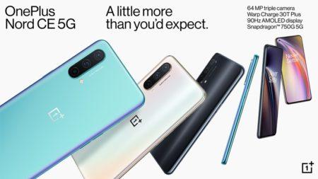 スナドラ750G/B19等プラチナバンド対応「OnePlus Nord CE」が発売~6月30日までの期間限定で307ドル