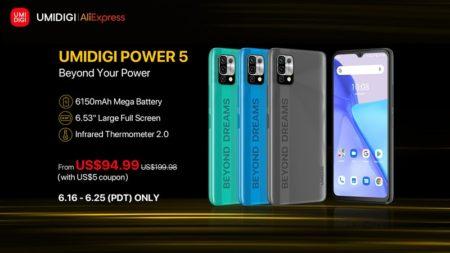 6150mAh大容量バッテリースマホ「UMIDIGI Power5」が発売&グローバルセールで94.99ドル~6月25日まで