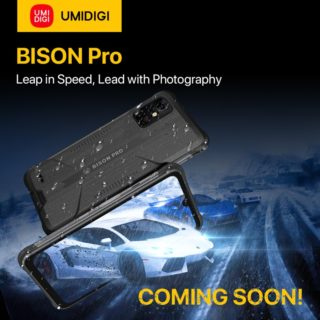 UMIDIGIが新たなタフネススマホ「BISON Pro」の発売を予告~更にパワフルなCPU/赤外線体温計も