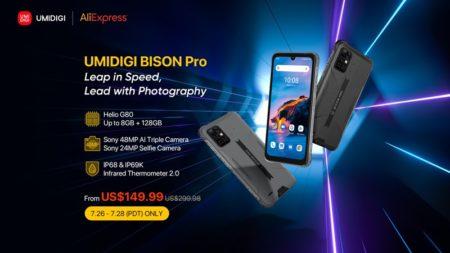 UMIDIGIが放つタフネススマホ「UMIDIGI BISON Pro」がグローバルセール開始! Helio G80搭載で価格はなんと149.99ドル~ : PR