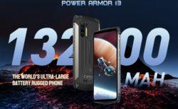 通常使用で5日! 13,200mAhもの大容量バッテリー搭載「Ulefone Power ARMOR13」が発売~AnTuTu29万点のパワフルタフネススマホ