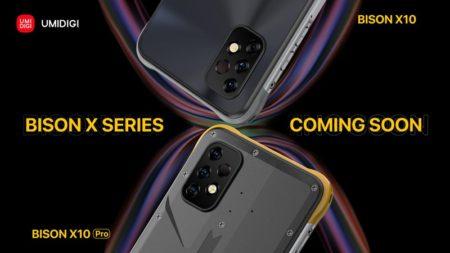 UMIDIGIがタフネススマホでもデザインにこだわった「BISON X10」シリーズ を発表~見た目も違う2製品をチラ見せ