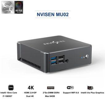 【ヤバイ このスペックで499.99ドル!!】第10世代のCore i7を搭載したミニPC『NVISEN MU02』が発売! 16GB+512GB SSD構成で高性能ながら飾りっ気無しデザインで安いのがいい