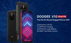 AnTuTu30万点前後のタフネススマホ「DOOGEE V10」が発売~33W急速充電/10W無線充電/赤外線体温計搭載