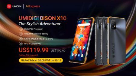 タフネススマホ「UMIDIGI BISON X10」シリーズ2製品を遂に発売!デザイン違いで119.99ドル~プラチナバンド対応で1万円台のタフネススマホ : PR
