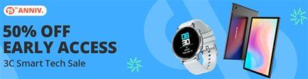 Banggoodが15周年で50%オフ多発!Mi Band6やタブレットも!「3Cスマートテック」セールを開催中~