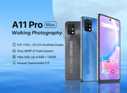 UMIDIGI A11 Pro Max が正式に発売! MediaTek G80搭載で大幅にパワフルに! 価格も139.99ドル~とリーズナブル