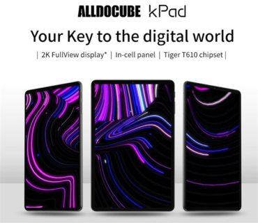 ALLDOCUBEからまたもハイコスパ廉価タブレットが発売! 「ALLDOCUBE KPad」~UNISOC T610搭載でそこそこパワフルで約1.8万円