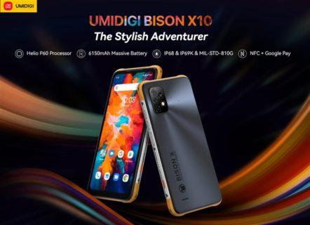ごつかっこいいタフネススマホ「UMIDIGI BISON X10」が発売! 一歩上を行くデザインとキャップレス防水の使い勝手の良さが魅力