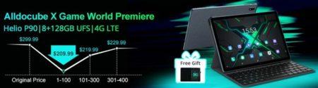 10.5インチ「ALLDOCUBE X GAME」タブレットが発売記念セールで専用ケース付で20ドル値引き! 10月24日までの限定特価